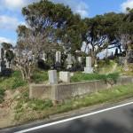 福岡県宗像市神湊にある地域墓地へ。お客様同行のもとお墓じまいのお見積りを。