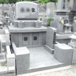 インド産アーバングレー御影の素敵なお墓が完成。福岡市立西部霊園にて