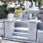 徳山石の墓石クリーニングと外柵の作り替え。中国産623御影石、平尾霊園にて