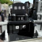 インド産黒御影M-10の高級感あるお墓が完成。納骨堂からのお引越し、宗像市ルンビニー墓苑の1.5㎡のコンパクトな墓地