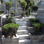 お墓の洗浄、文字彫刻の色の入れ直し、土間部分の砂利入れ等を行いました。福岡市営平尾霊園にて