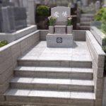 平尾霊園にて、中国産635ピンク(桜御影)を使用した洋型墓石を建立。広々として全体に柔らかい印象のお墓